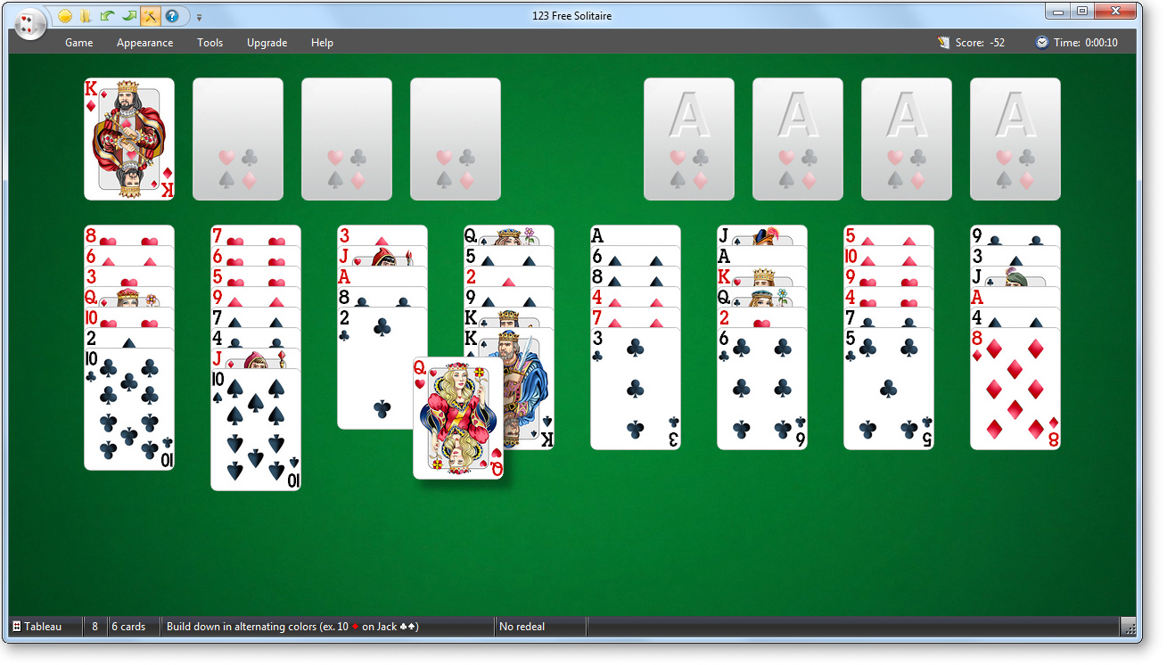 Screenshot of 123 Free Solitaire - Card Games Suite