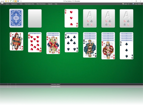 123 Free Solitaire new improved display