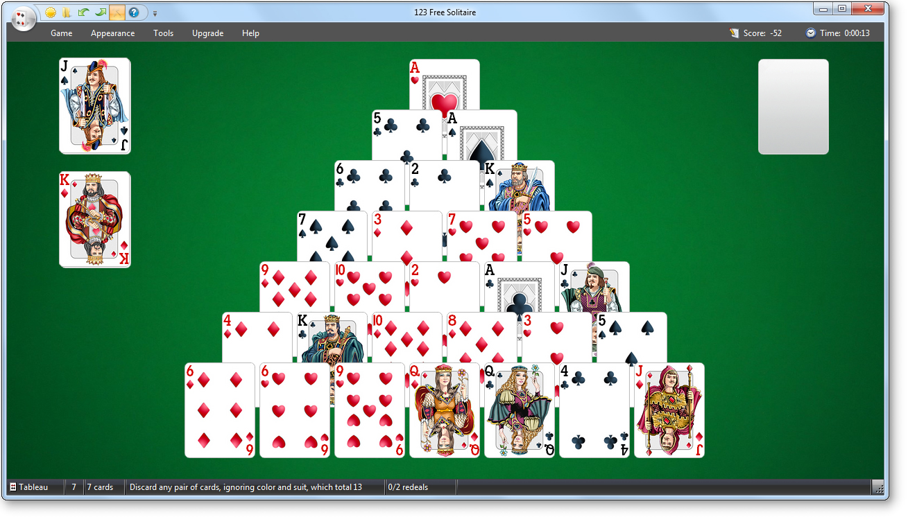 pyramid solitaire games free