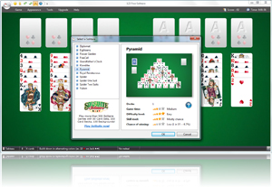 123 Free Solitaire - Select a Solitaire Screenshot